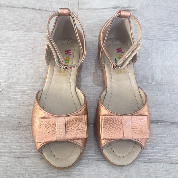 VERONICA PEEP TOE SANDALS - COPPER