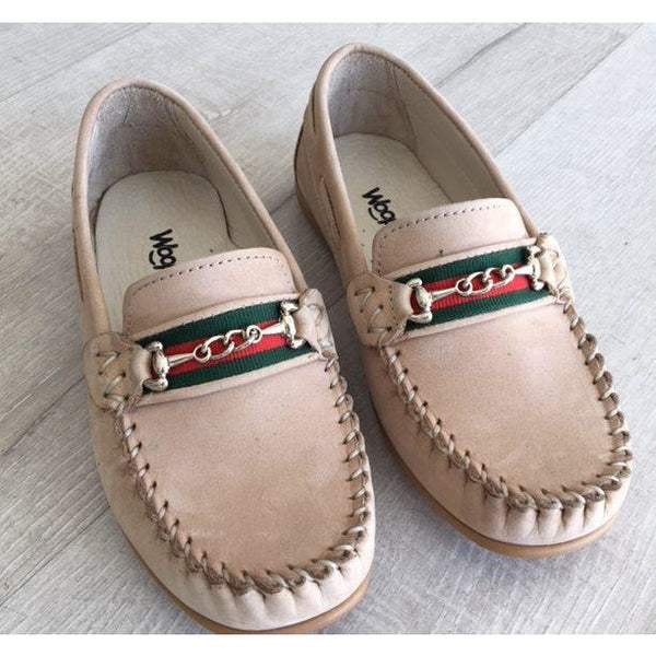 Woopy Suede Romeo Loafers Beige