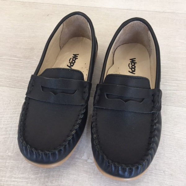 Woopy Leather Polo Loafers Black