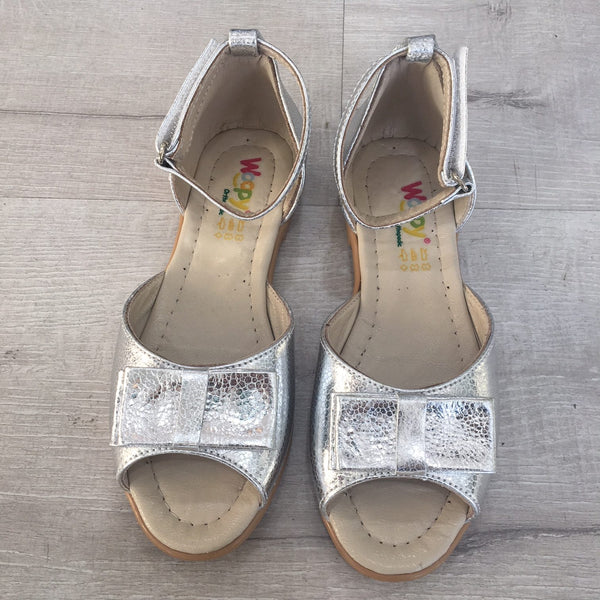 VERONICA PEEP TOE SANDALS - SILVER