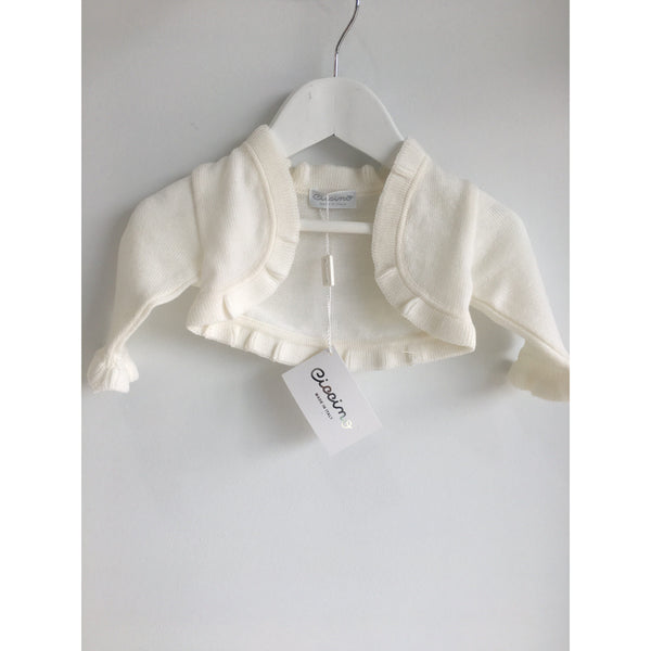 RUFFLE KNIT BABY GIRL CARDIGAN
