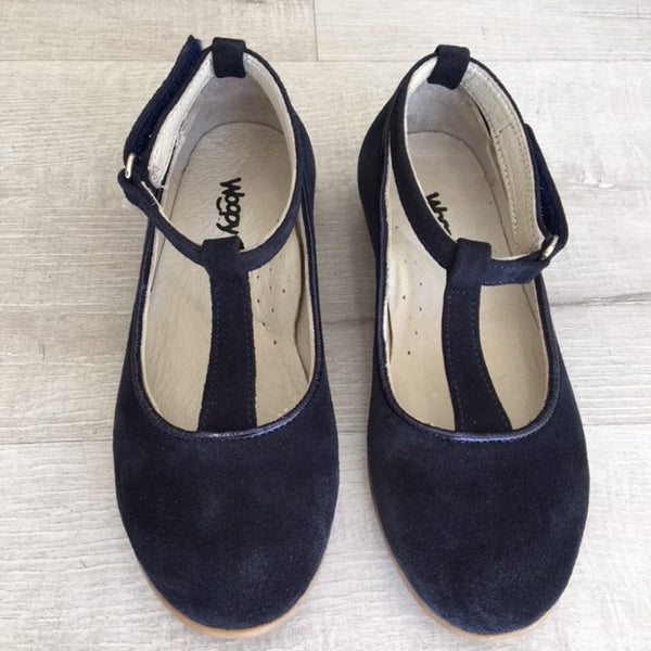 VALENTINA SUEDE SHOES - NAVY