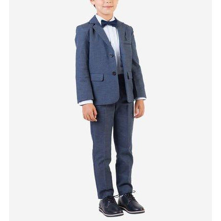 BOYS GREY COTTON FORMAL SUIT SET