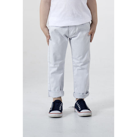 ADDISON LIGHT GREY TAILOR PANT