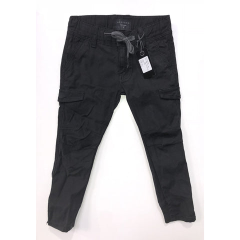 ADDISON BLACK TWILL CARGO PANT