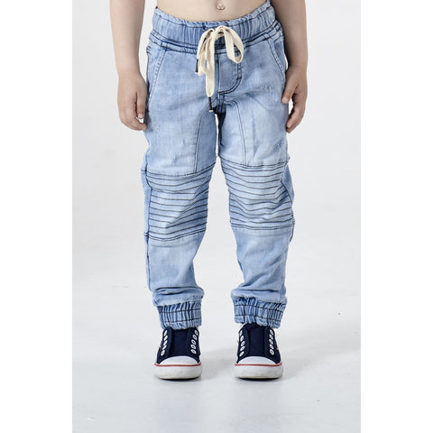 ADDISON MID BLUE PANEL JEANS