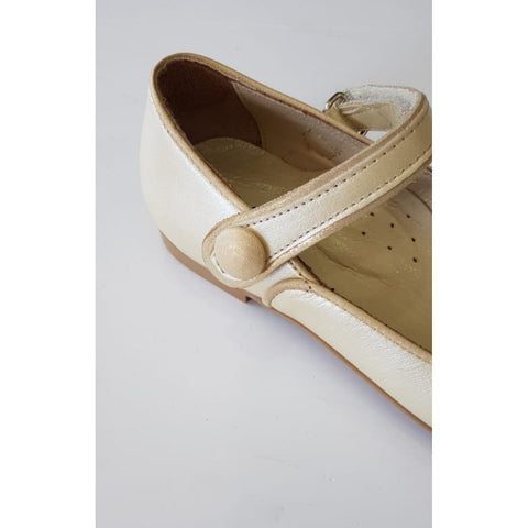 Woopy Leather Gaia Shoes Pearl Gold