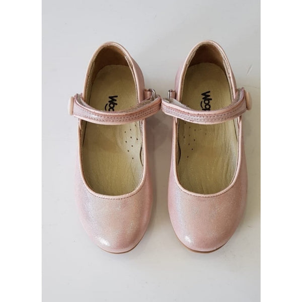 GAIA LEATHER SHOES - PEARL POWDER