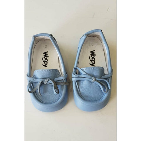 BEBE BABY BLUE LEATHER LOAFERS