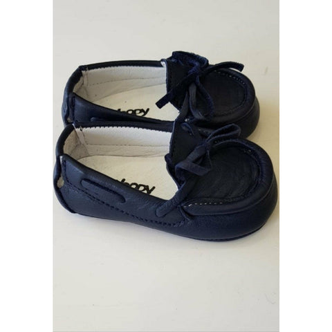 Woopy Leather Bebe Loafers Navy