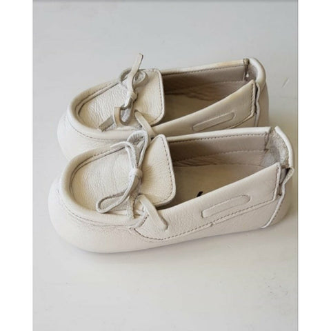 BEBE BEIGE LEATHER LOAFERS