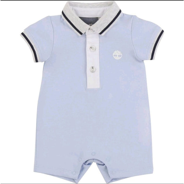 BABY BOY BABY BLUE COLLARED OVERALL