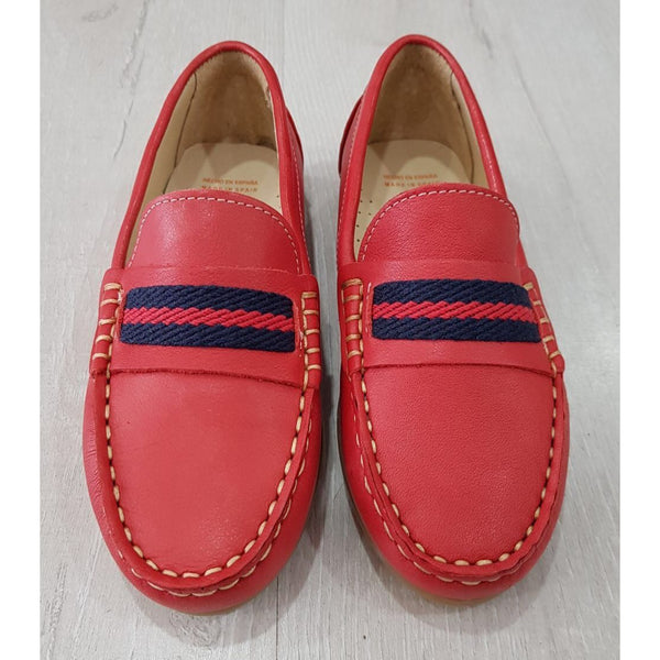 ANDANINES RED LEATHER LOAFERS