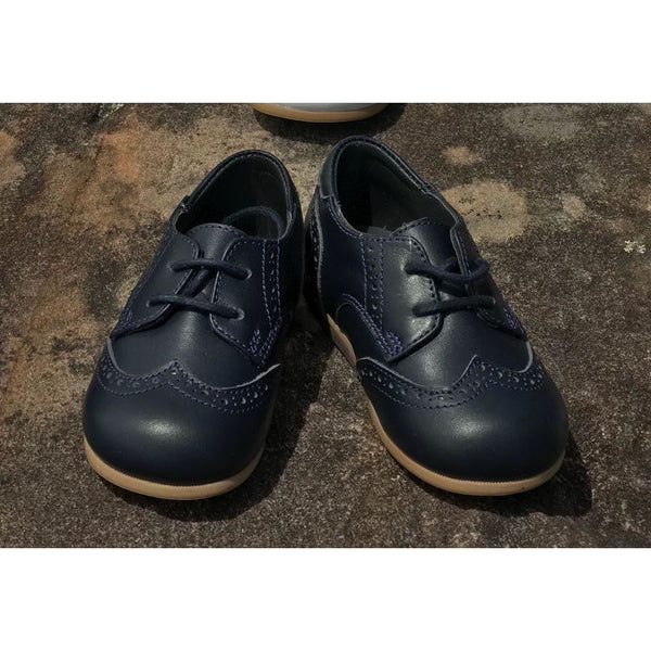 Woopy Leather Lace Up Oxford Shoes Navy