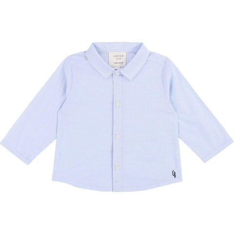 BOYS COTTON BLUE & WHITE CHECKED SHIRT