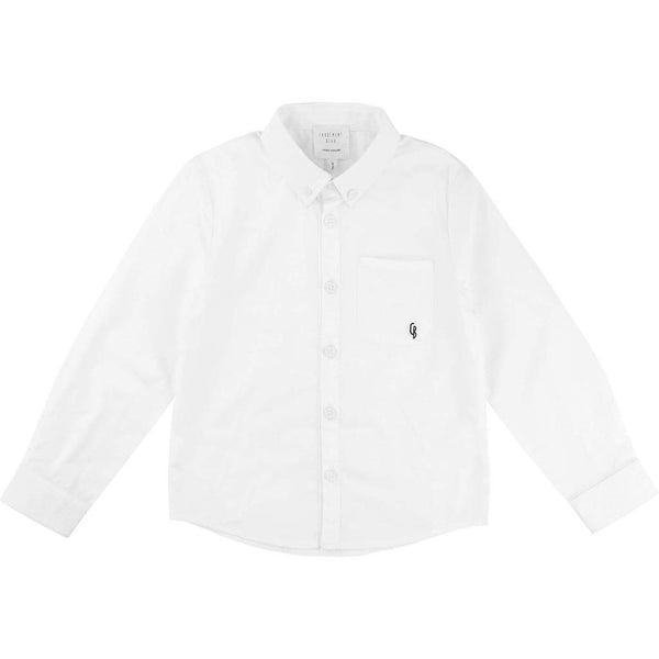 BOYS WHITE BUTTON UP FORMAL SHIRT