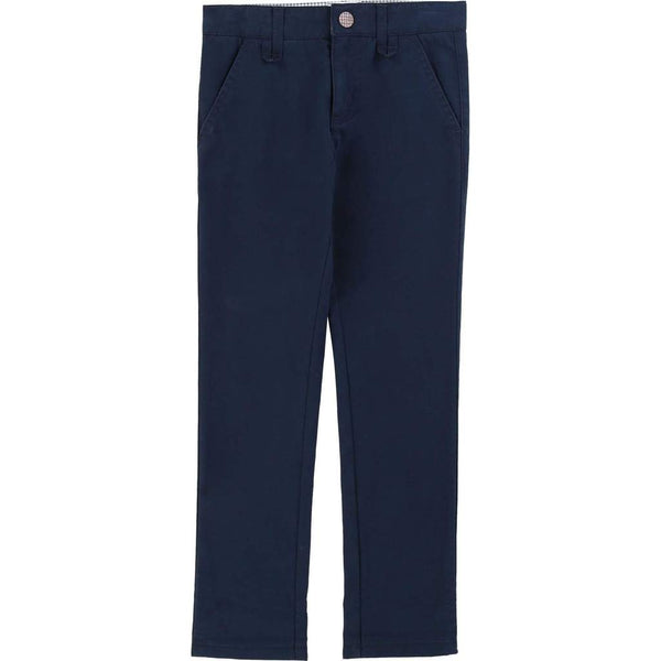 BOYS NAVY TWILL CHINOS