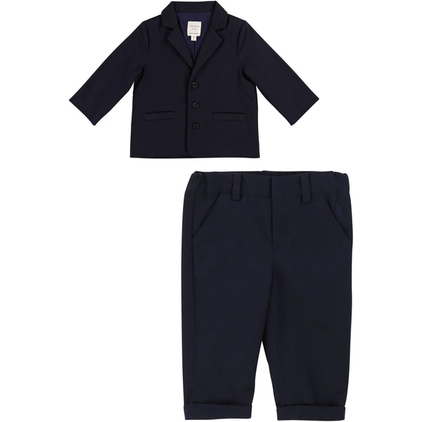 BABY BOYS NAVY TWO PIECE SUIT SET