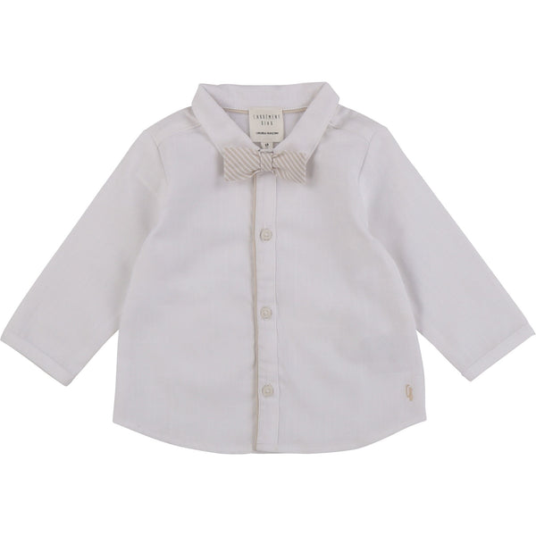 MINNIE ME BUTTON UP SHIRT WITH BOW TIE