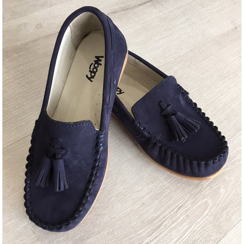 Woopy Suede Peppe Loafers Navy