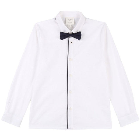 BOY BUTTON UP SHIRT AND BOW TIE SET
