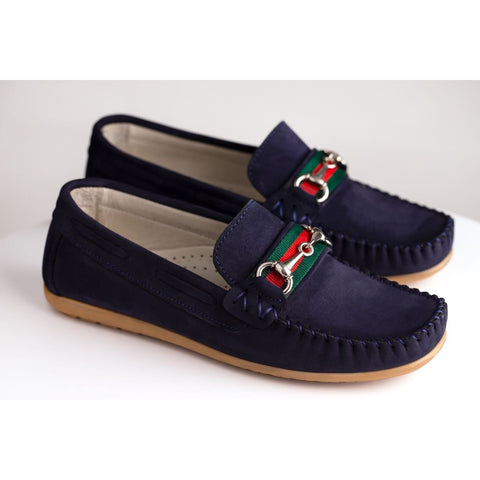 ROMEO SUEDE LOAFERS - NAVY