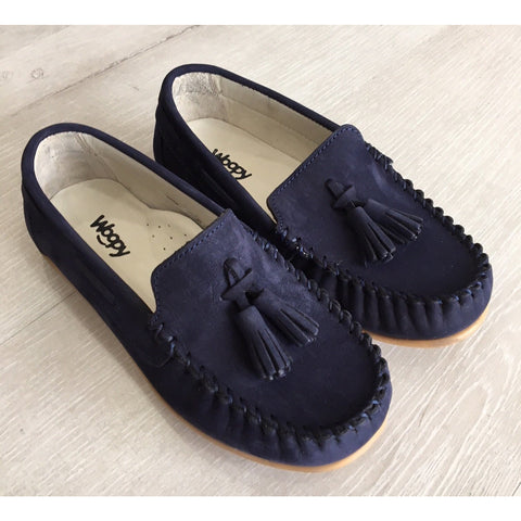 PEPPE SUEDE LOAFERS - NAVY