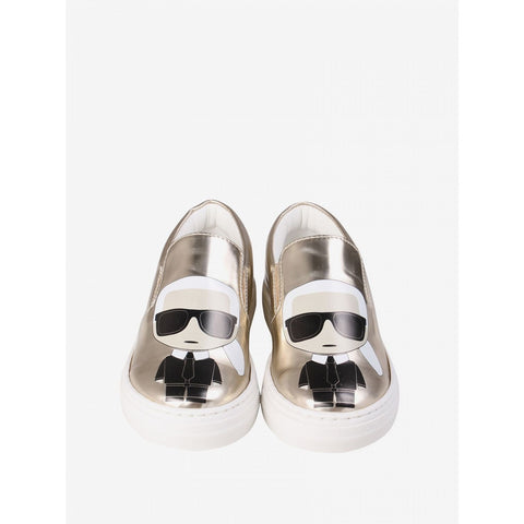 GOLD KARL SLIP ON SNEAKERS