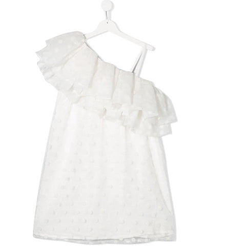 GIRL WHITE FRILL DRESS