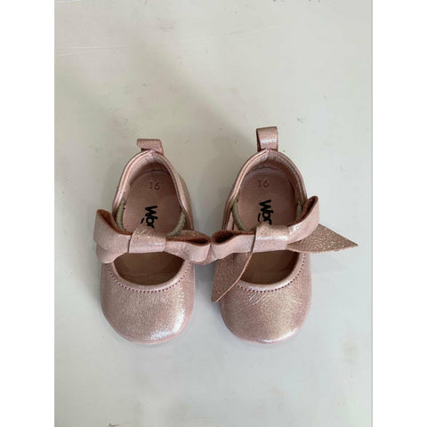 Woopy Leather Rosebud Shoes Powder