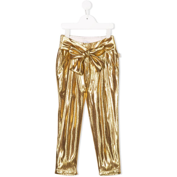 GIRL GOLD PLEATED PANTS