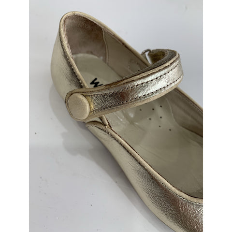 GAIA LEATHER SHOES - GOLD