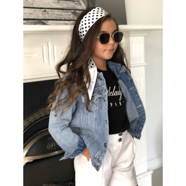 LITTLELADY SIGNATURE EMBROIDERED JACKET