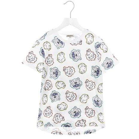 MINI ME BABY BOY COLOURED TIGER FACE T-SHIRT