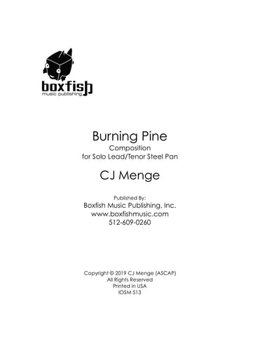 Burning Pine for Solo Lead/Tenor Pan | CJ Menge