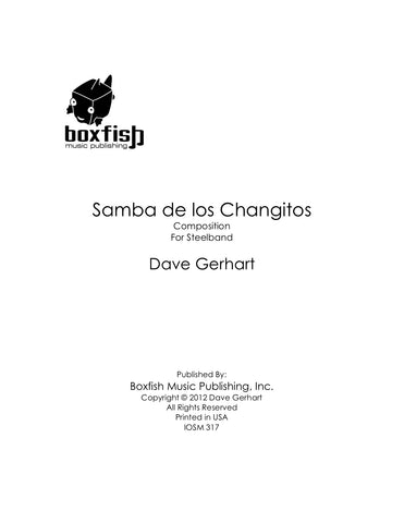 Samba de los Changitos for Steel Band -Dave Gerhart