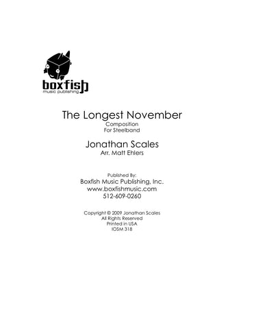 The Longest November for Steel Band Jonathan Scales/Arr. Ehlers