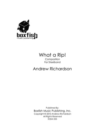 What a Rip! for Steelband-Andrew Richardson