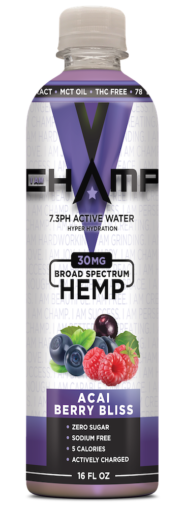 CHAMP ™ Acai Berry Bliss Nano Infused CBD - 12 Pack