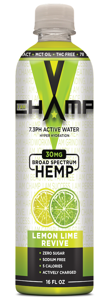 CHAMP ™ Lemon Lime Nano Infused CBD - 12 Pack