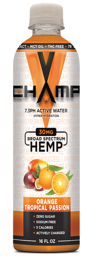 CHAMP ™ Orange Tropical Passion Nano Infused CBD - 12 Pack