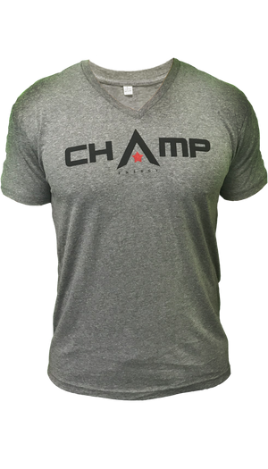 Mens Heather Gray V-Neck