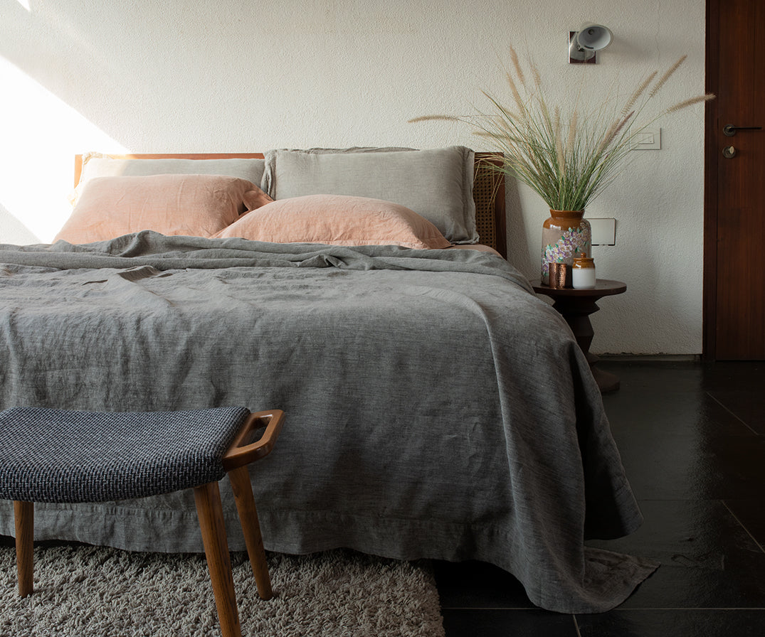 Basalt Linen Bed Set