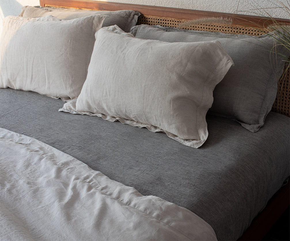 Basalt Linen Pillow Cases