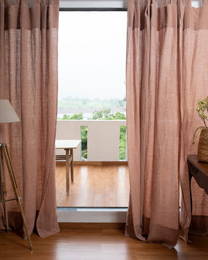 Terracotta Linen Curtain