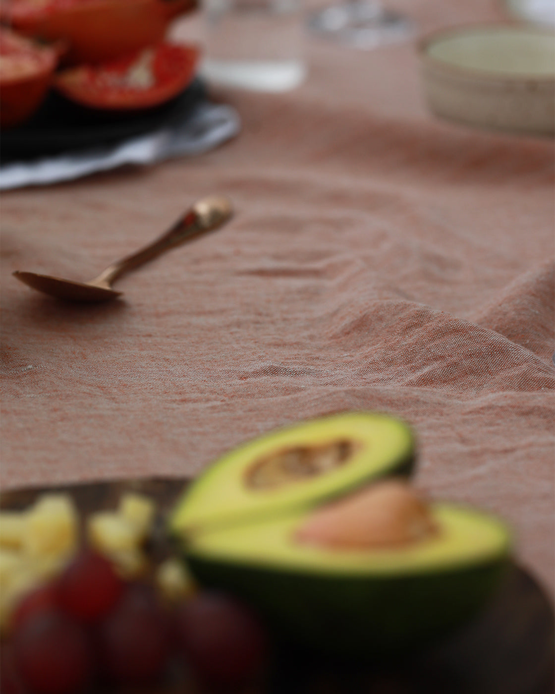 Terracotta Linen Tablecloth