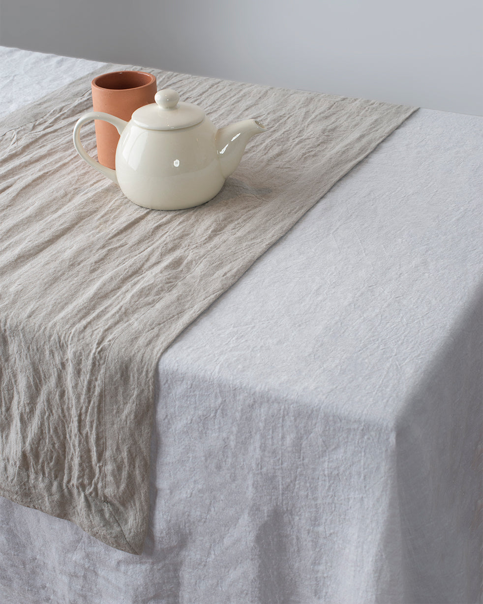 Undyed Linen Table Runner