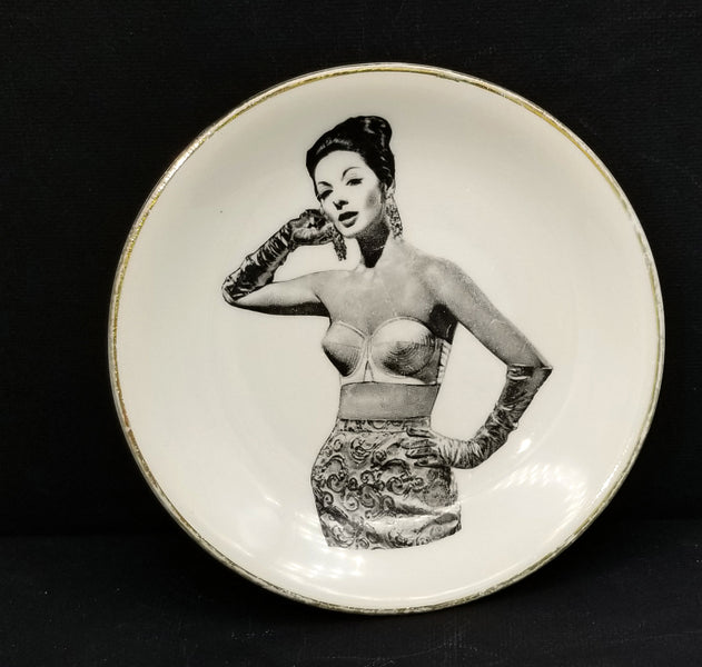 """I dreamed I was a real dish in my Maidenform Bra"" - A Plate from the 1960's"