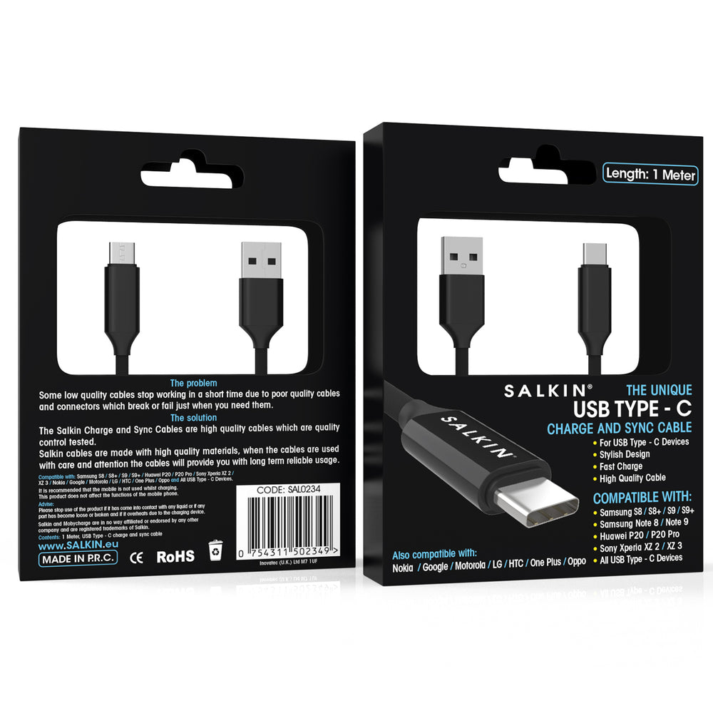 Salkin Professional Type C USB Cable Lead