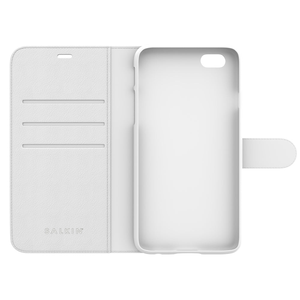 Salkin White Wallet Cover (Faux Leather)